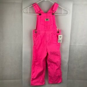 NWT Hot pink Osh Kosh Bgosh overalls